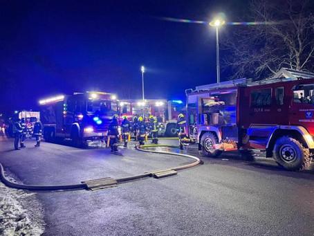 Blockhaus in Brand geraten