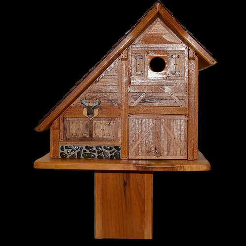 Barn Bird House - Post Mount