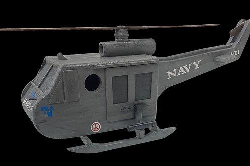 Huey Seawolf Helicopter Birdhouse