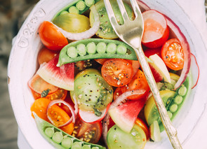 Immune Boosting Fresh Summer Salad - With a Simple and Refreshing Vinaigrette