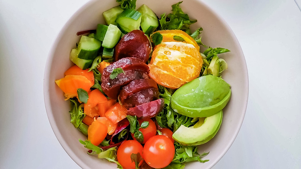 salad beetroot paprika orange tomato avocado cucumber lettuce
