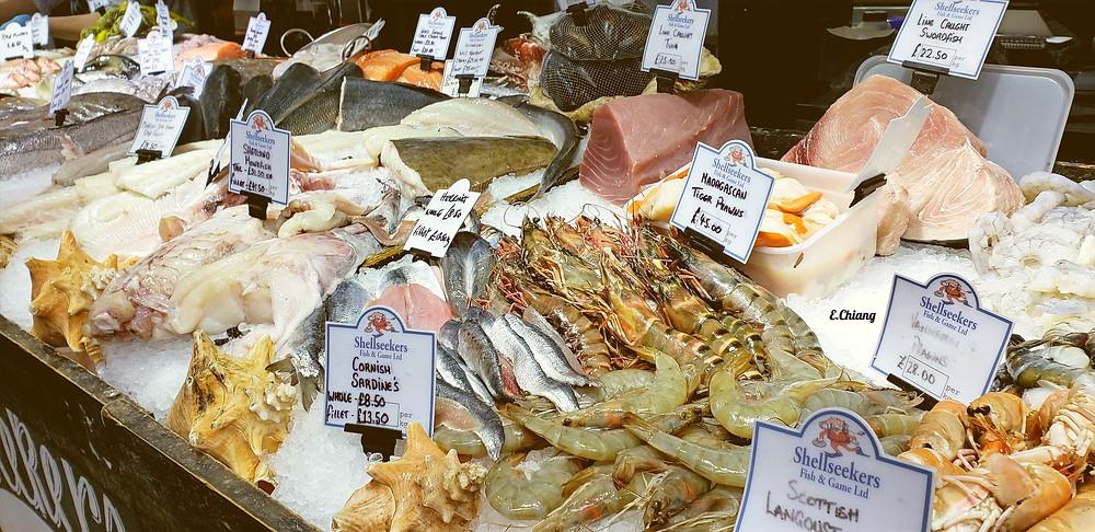 shell seekers prawns fish fresh