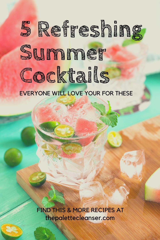 watermelon summer cocktails refreshing
