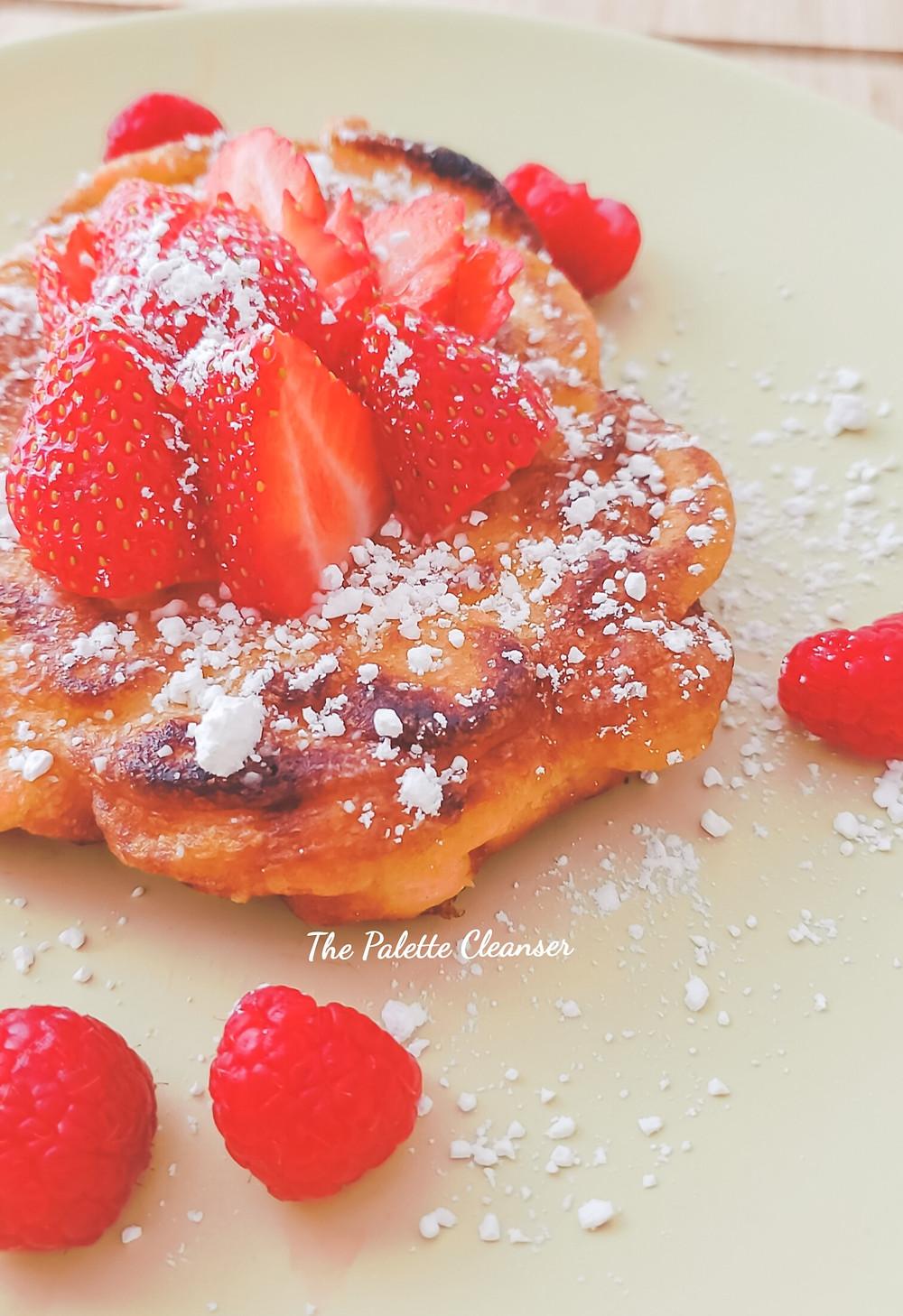 strawberry powdered icing sugar