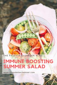 immune boosting summer salad pin