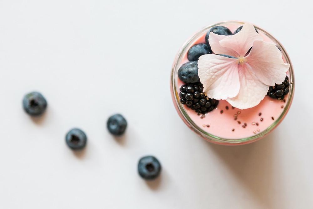 strawberry blueberry blackberry flower