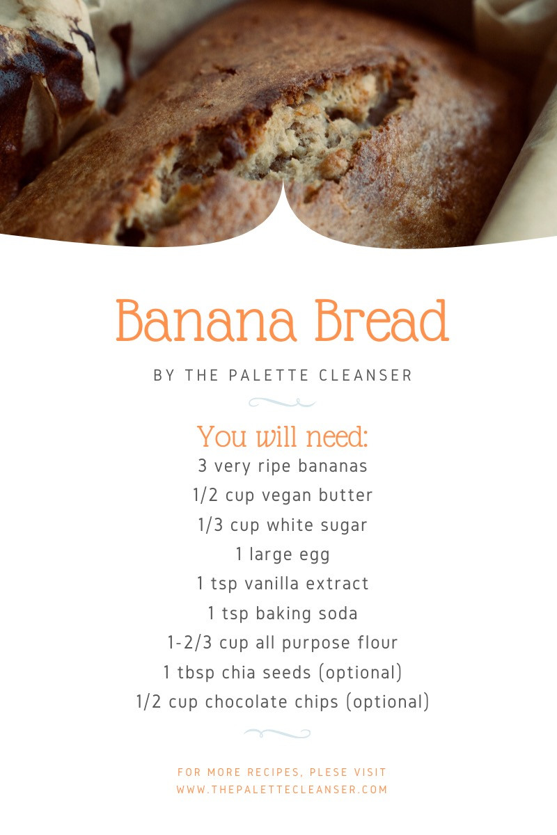 ingredients ripe bananas vegan butter sugar