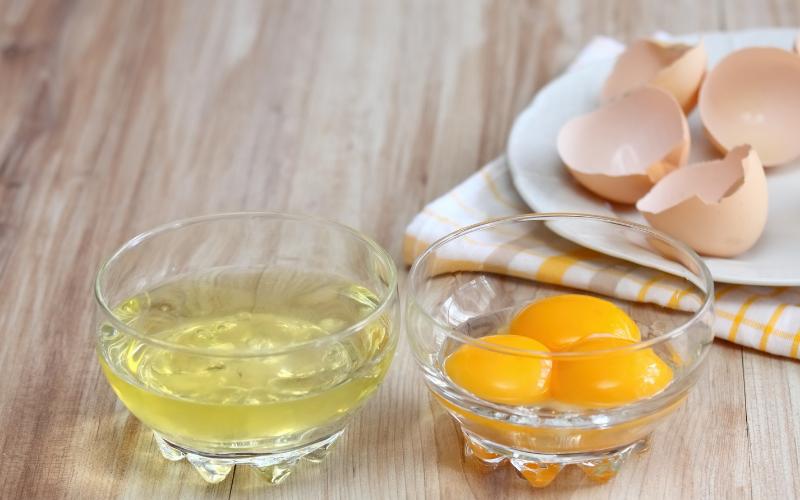 separated egg yolks whites