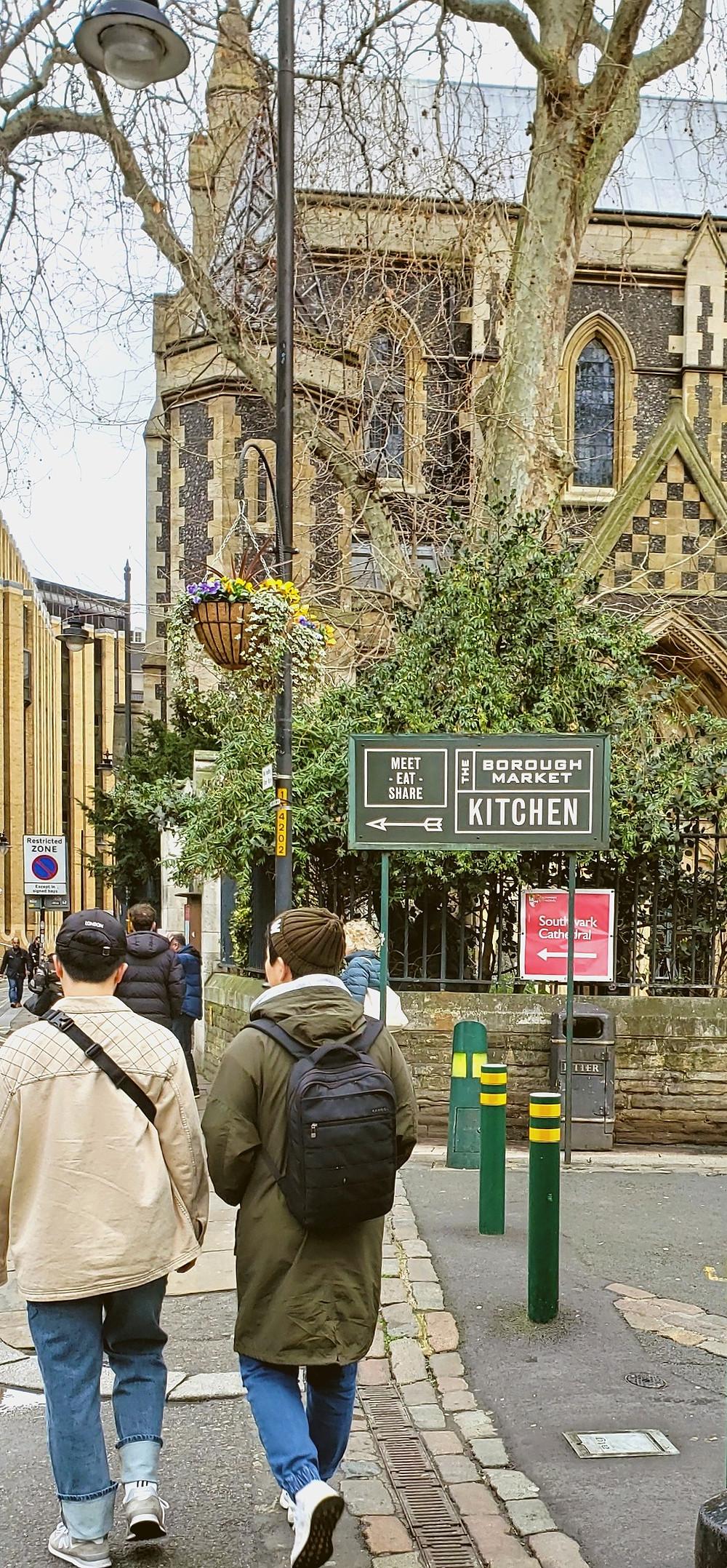 borough market kitchen signs