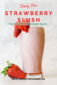 strawberry red banana slushy frozen drink dairy free