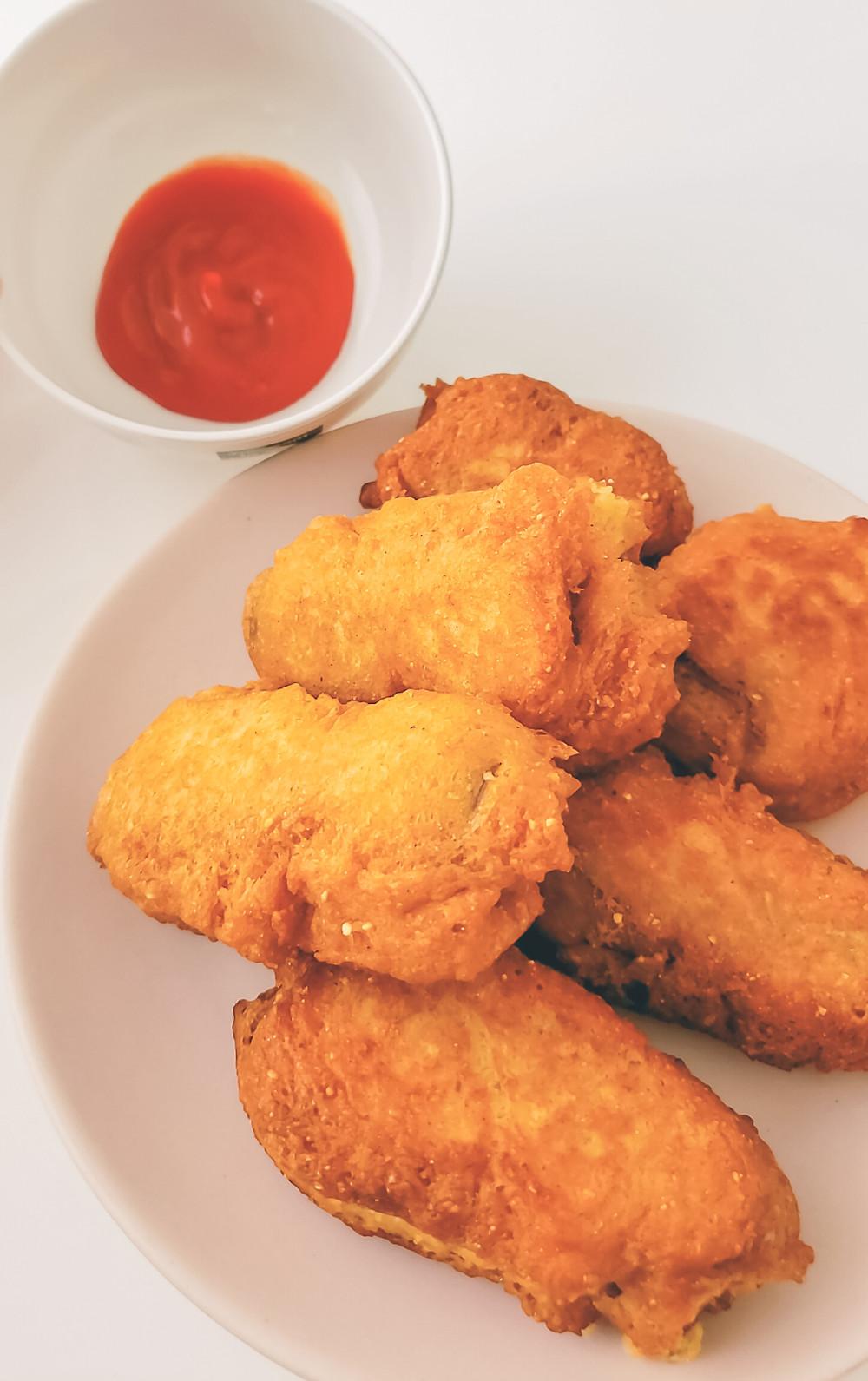 deep fried corndog bites ketchup