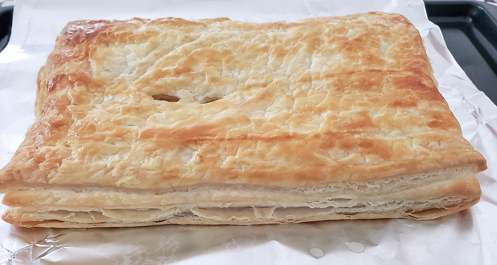 full large puff pastry baked