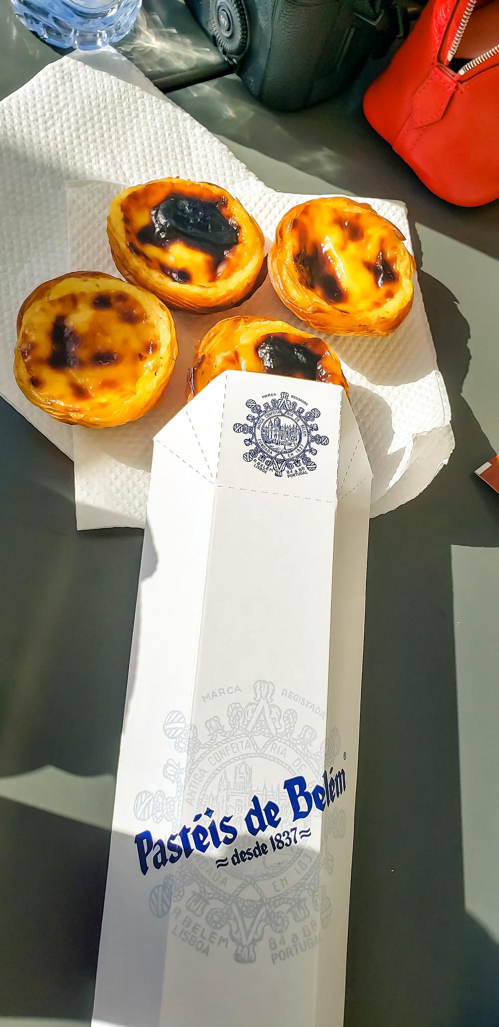pastéis de belém egg tarts portugal