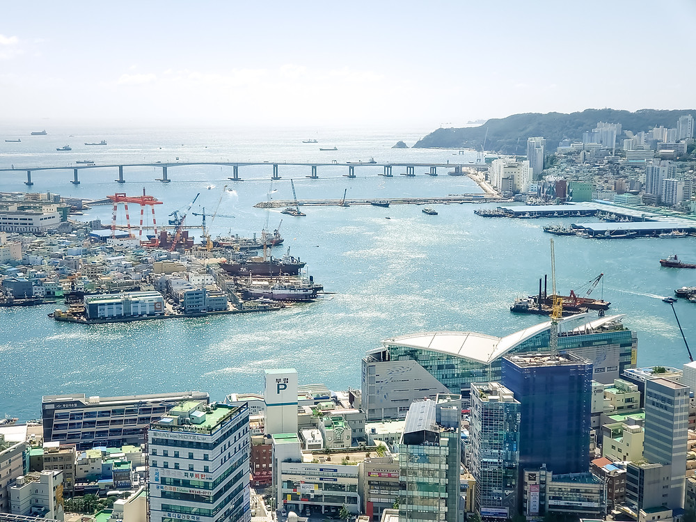 hotel aerial view harbor busan