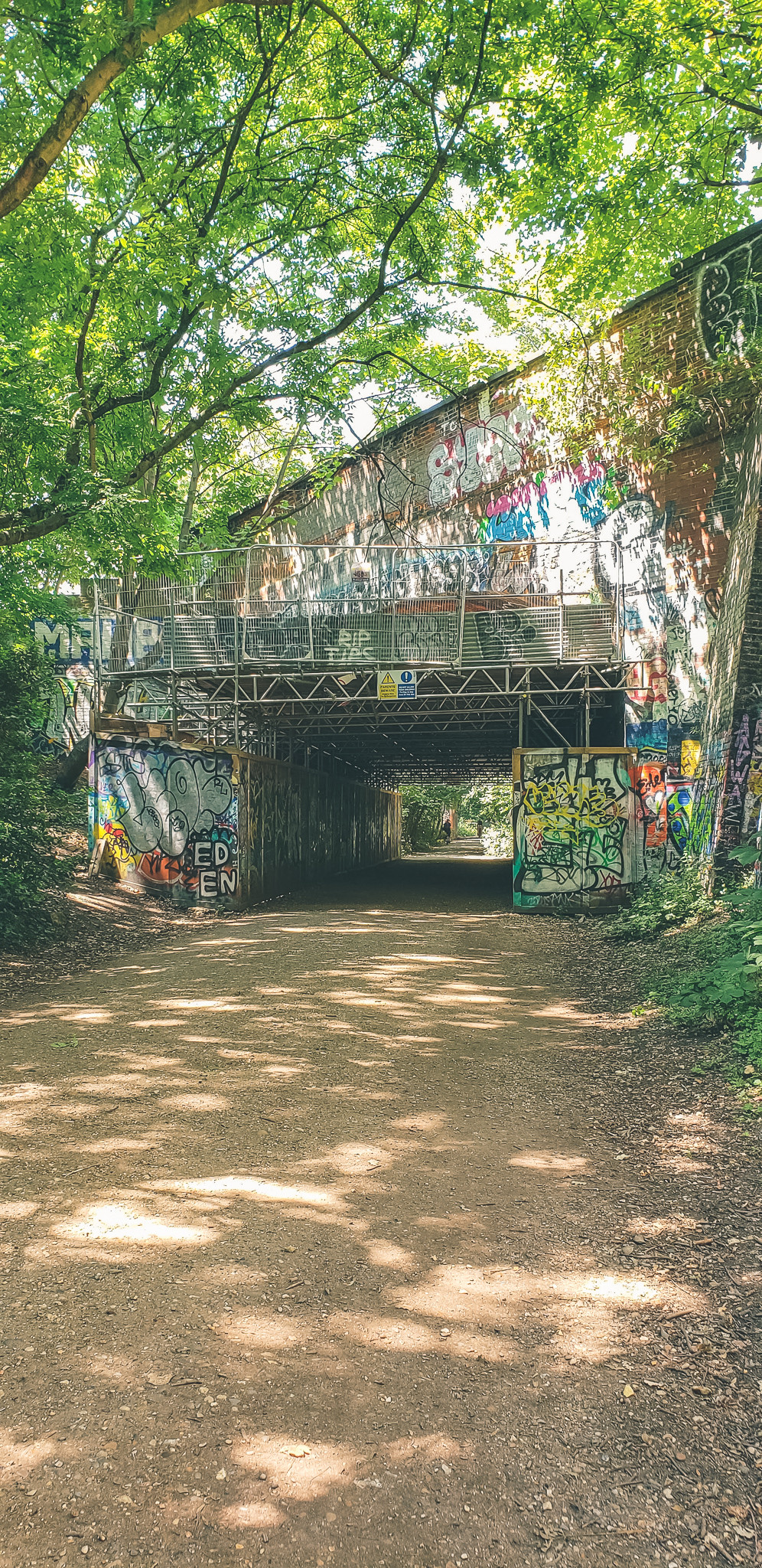 old train station graffiti tunnel bridge