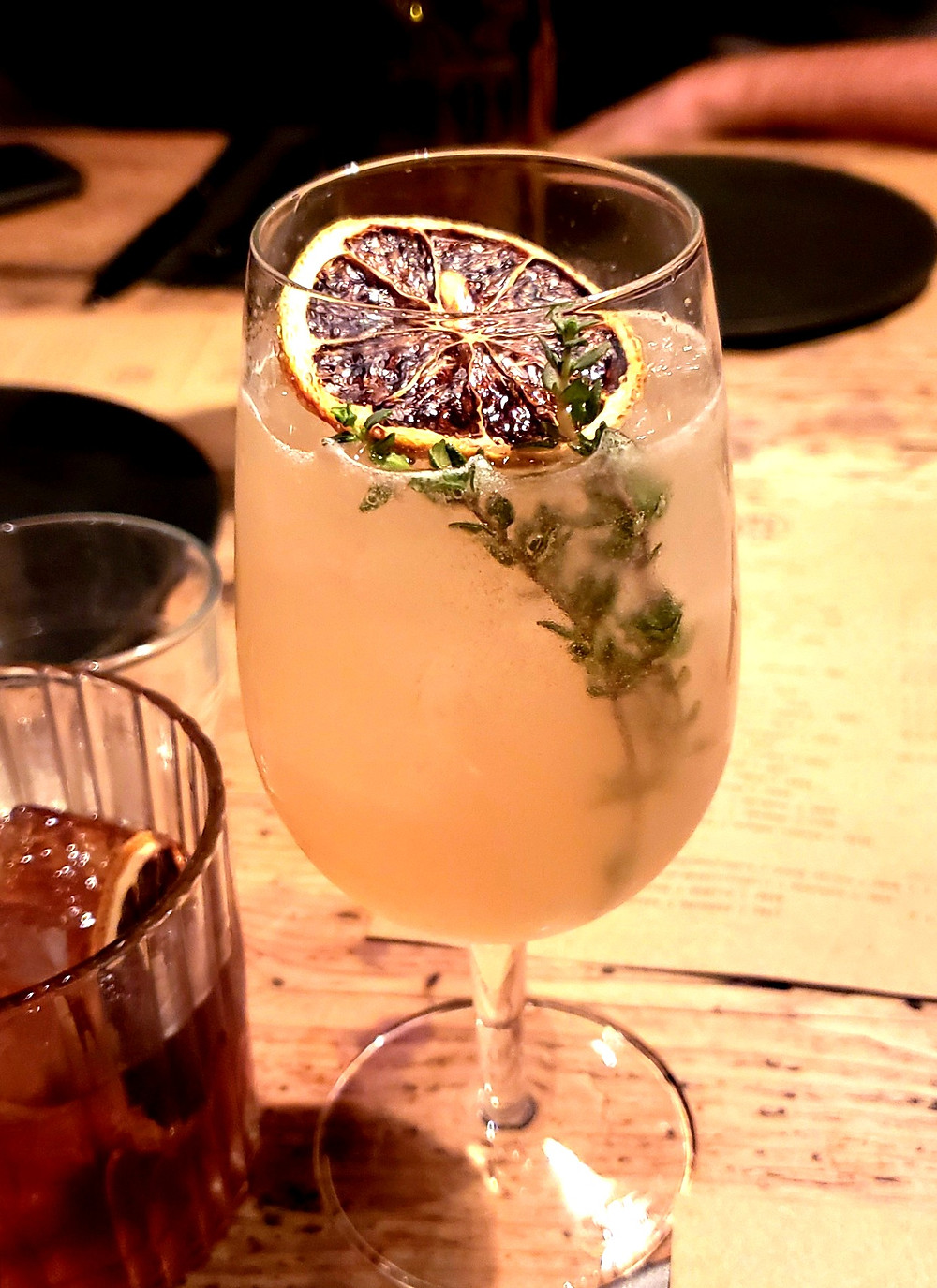 roasted fig thyme spritz