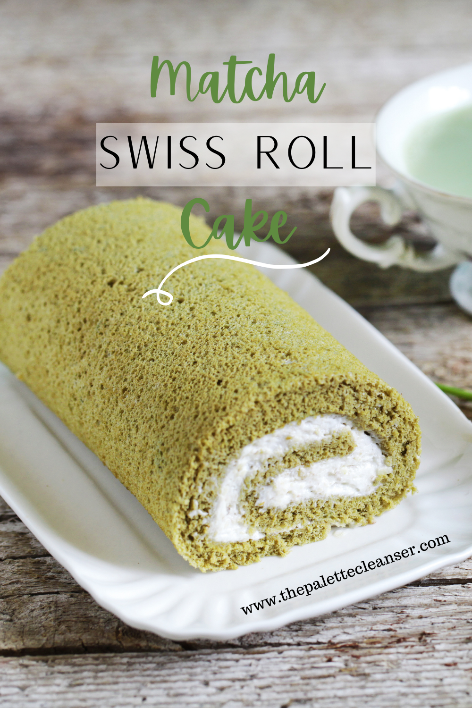 matcha swiss roll cake pinterest pin