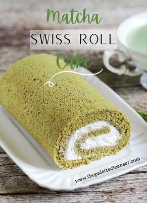 Matcha Swiss Roll Cake (Dairy Free)