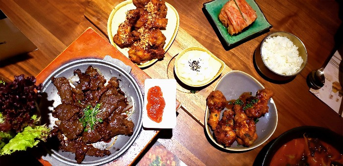 bulgogi galbi korean fried chicken
