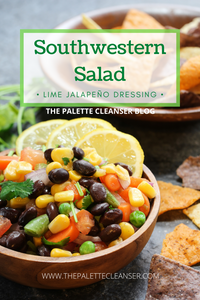 southwestern salad with lime jalapeño dressing