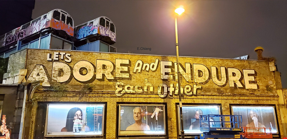 lets adore and endure each other shoreditch