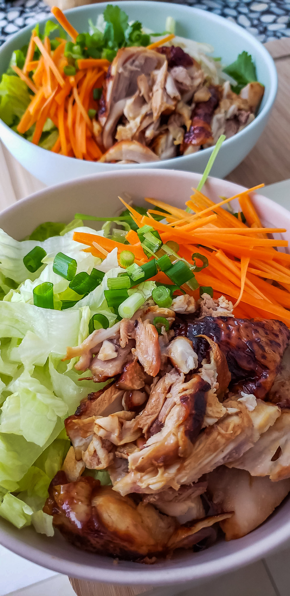 vietnamese bbq Chicken rice vermicelli bowl