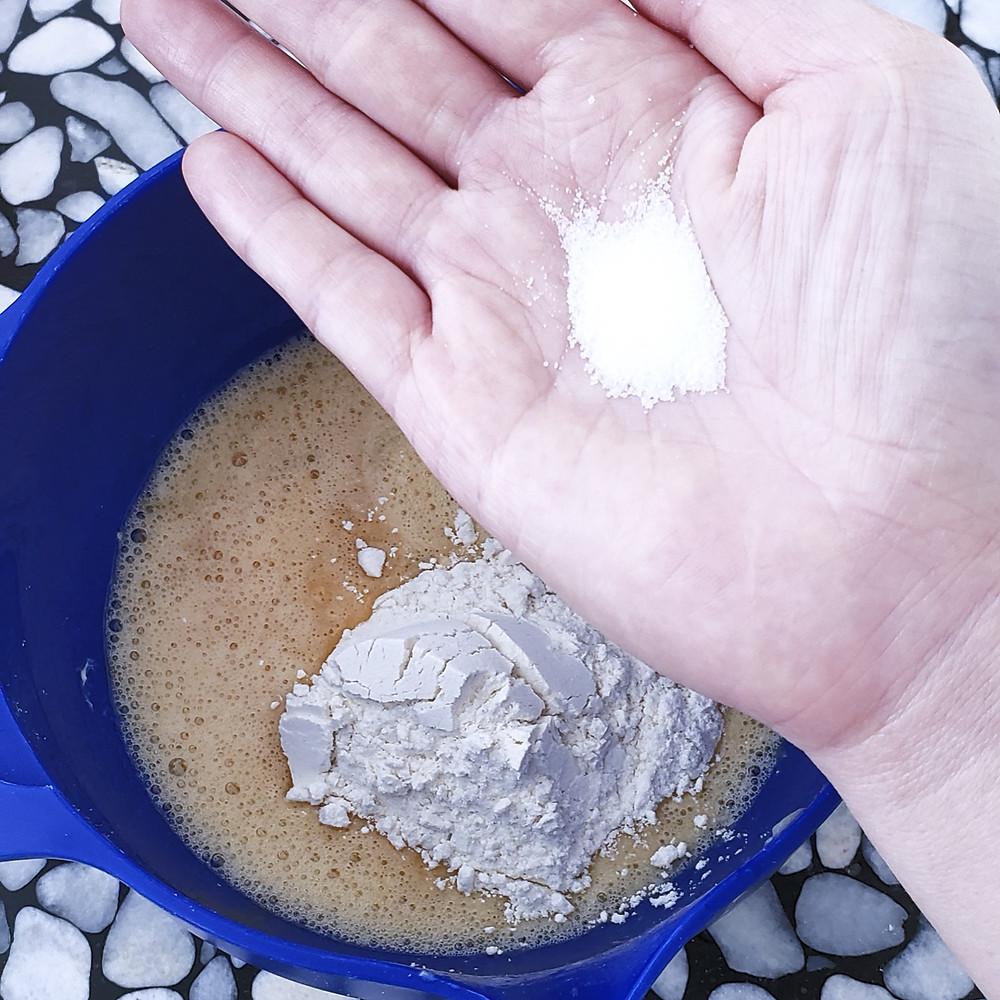 pinch of salt to batter