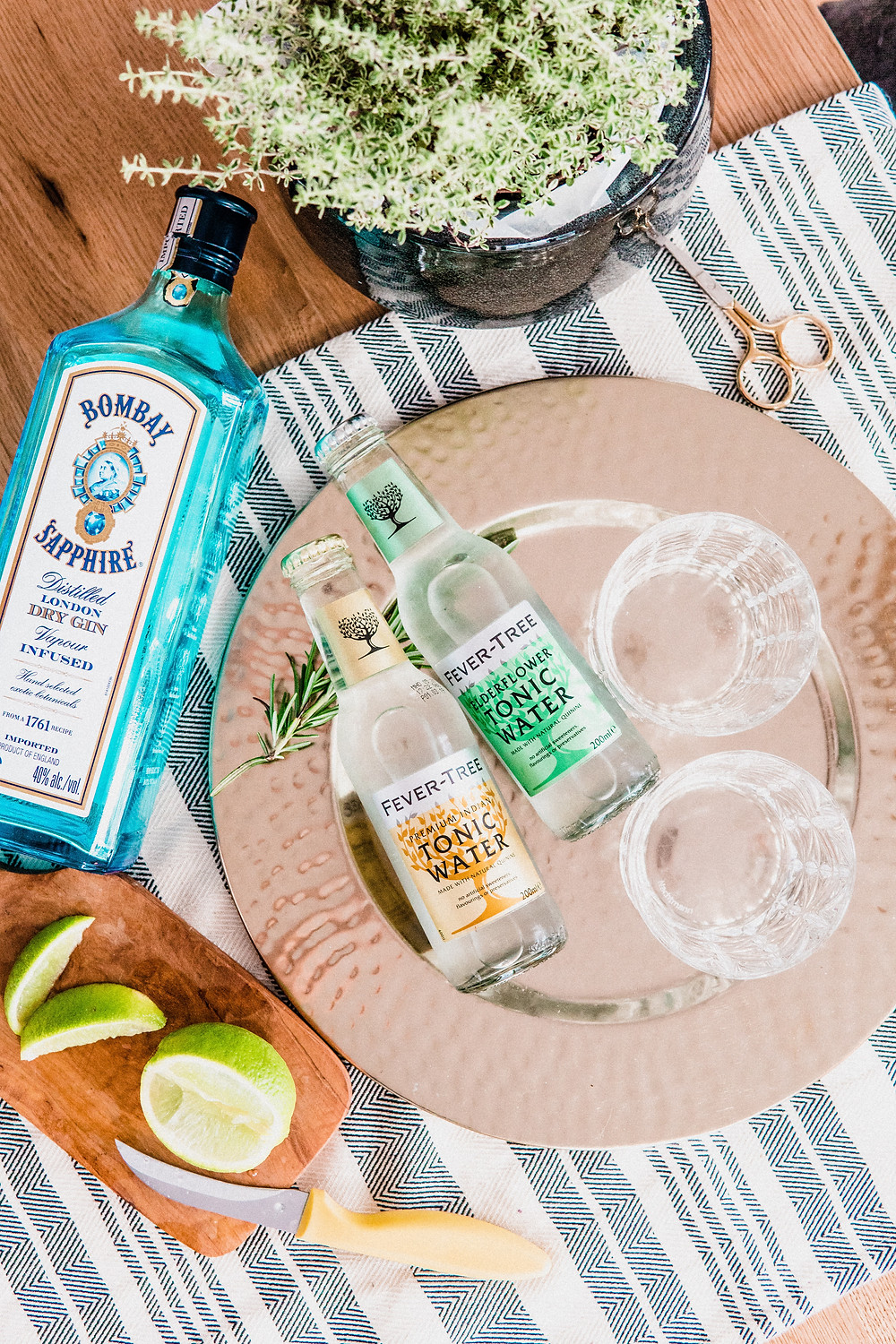 fever tree tonic water bombay dry gin