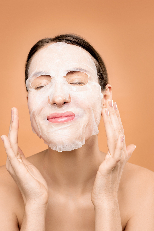woman moisture face mask