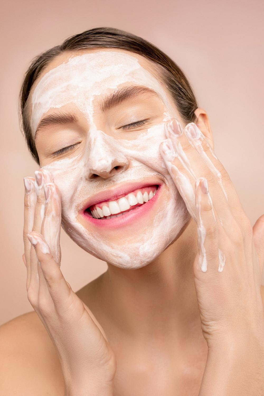 washing face soap