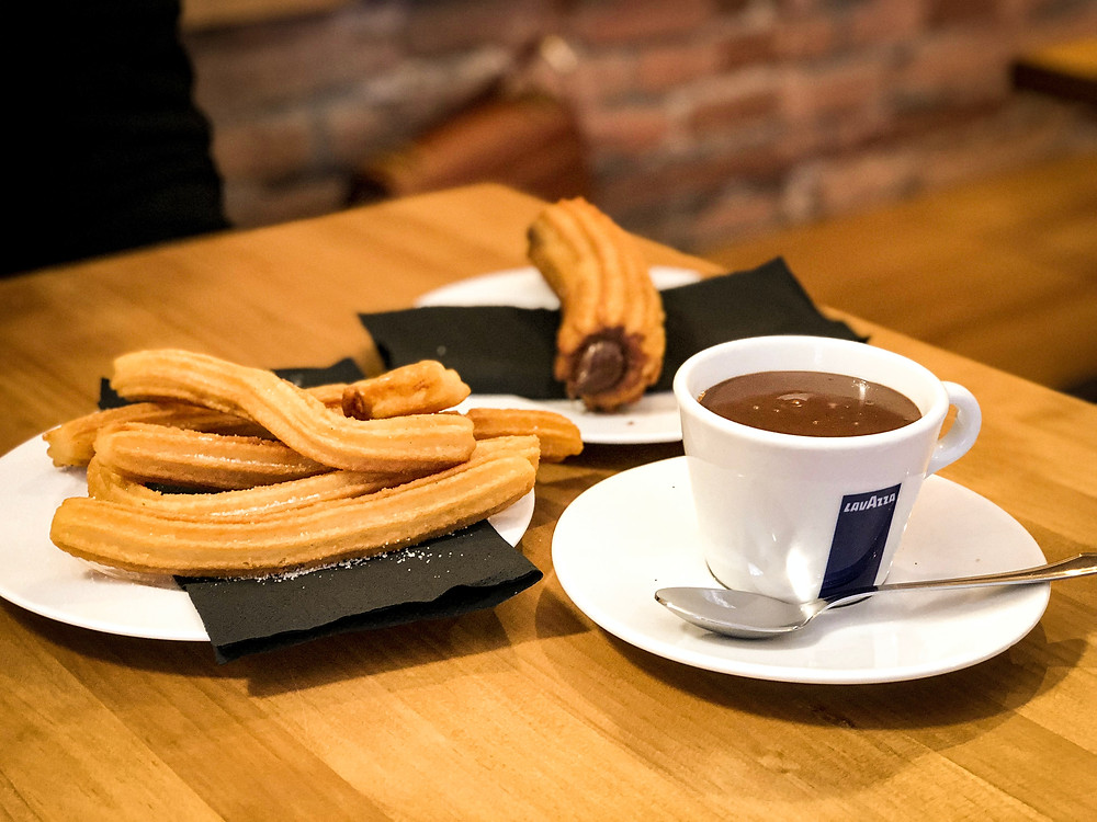 chocolate dipping sauce for churro cappuccino cup