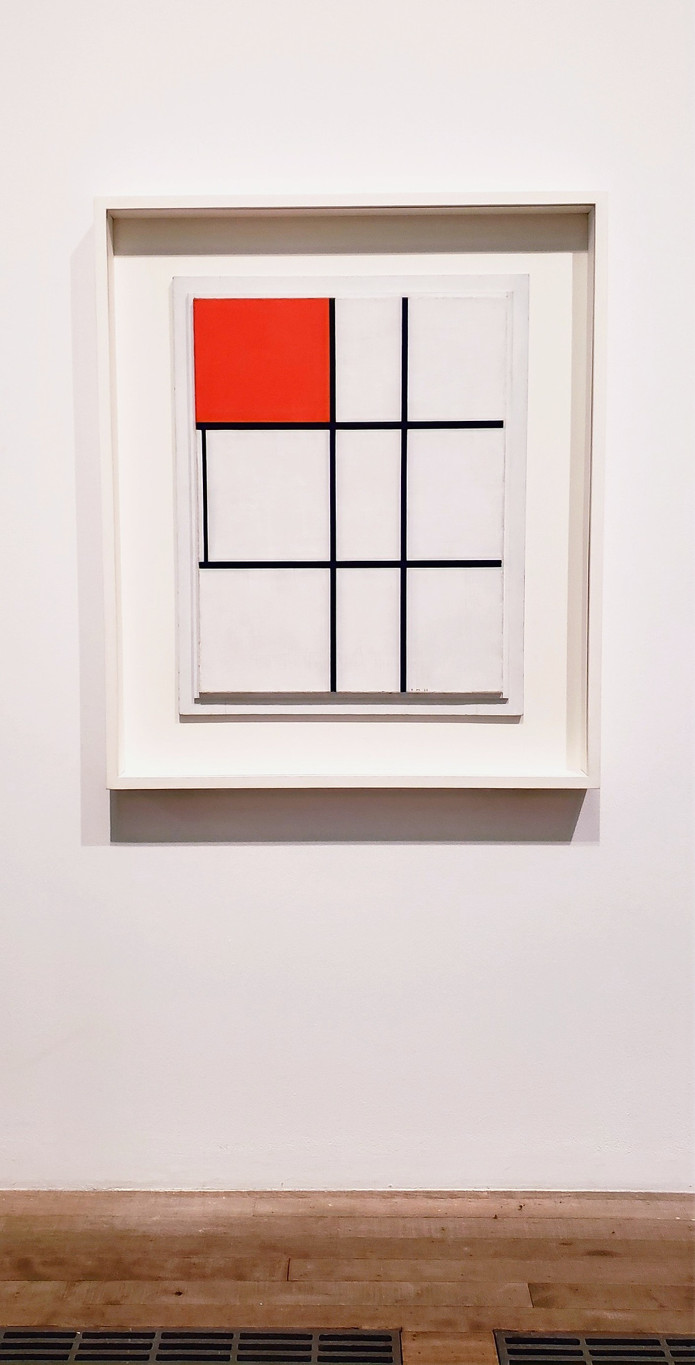 square grid red box art portrait