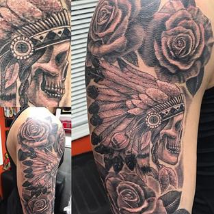 First tattoo on Nate ! Sat  like a champ ! Thanks for looking ! #hammerstattoo #artisthemotive #blackandgrey #inkedup #ink #nta #nationaltat