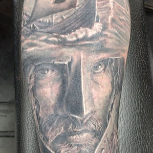 #tattooart #hammerstattoo #jameslockerart #vikingtattoo #nationaltattooassociation #nta #blackandgrey #artisthemotive #tattooed #brandonlewi