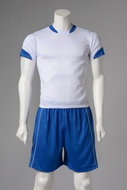 Εμφάνιση ποδοσφαίρου λευκό με μπλε