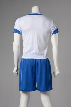 Ποδοσφαίρου λευκό με μπλε-πίσω
