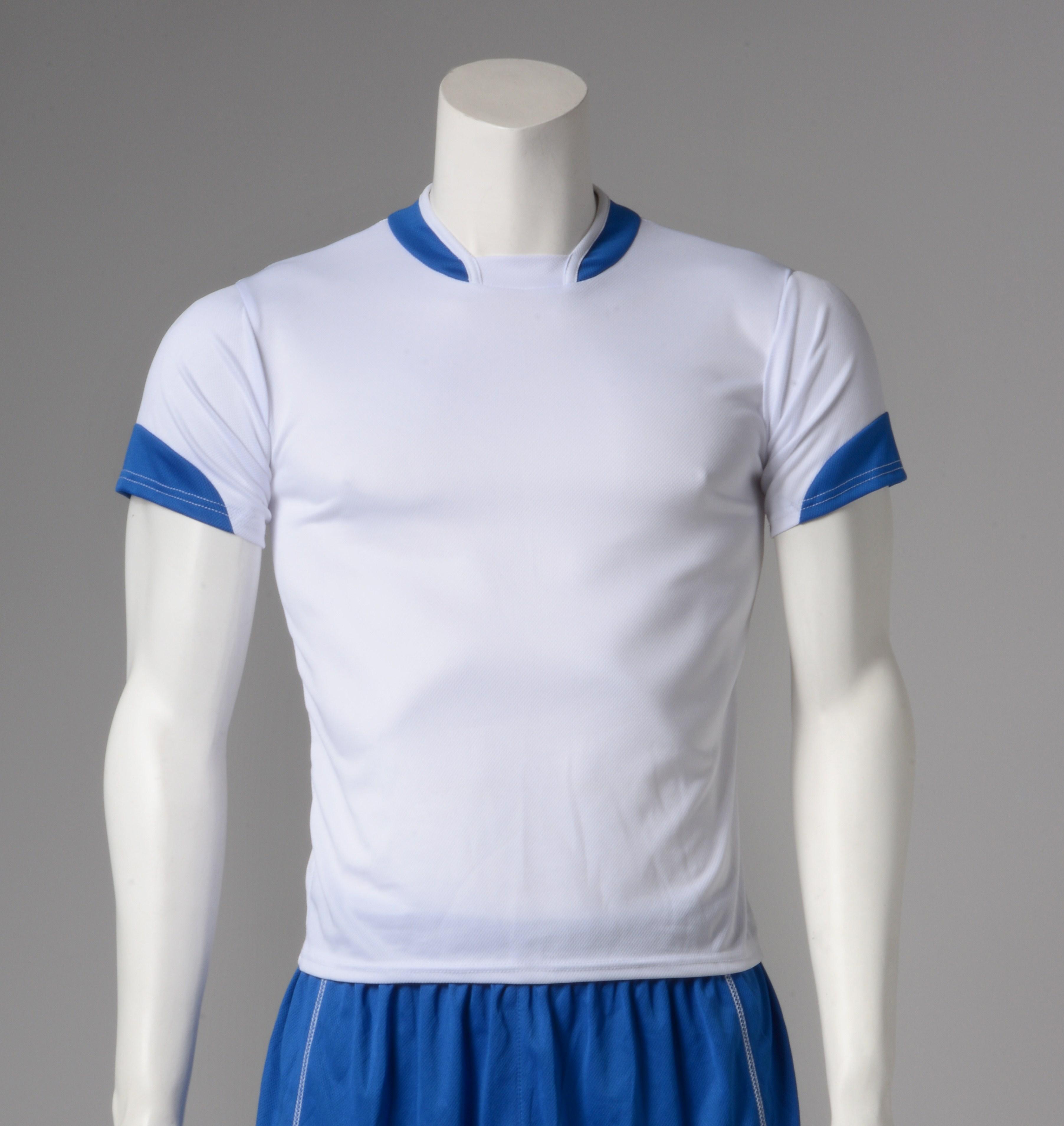 Φανέλα ποδοσφαίρου λευκό με μπλε