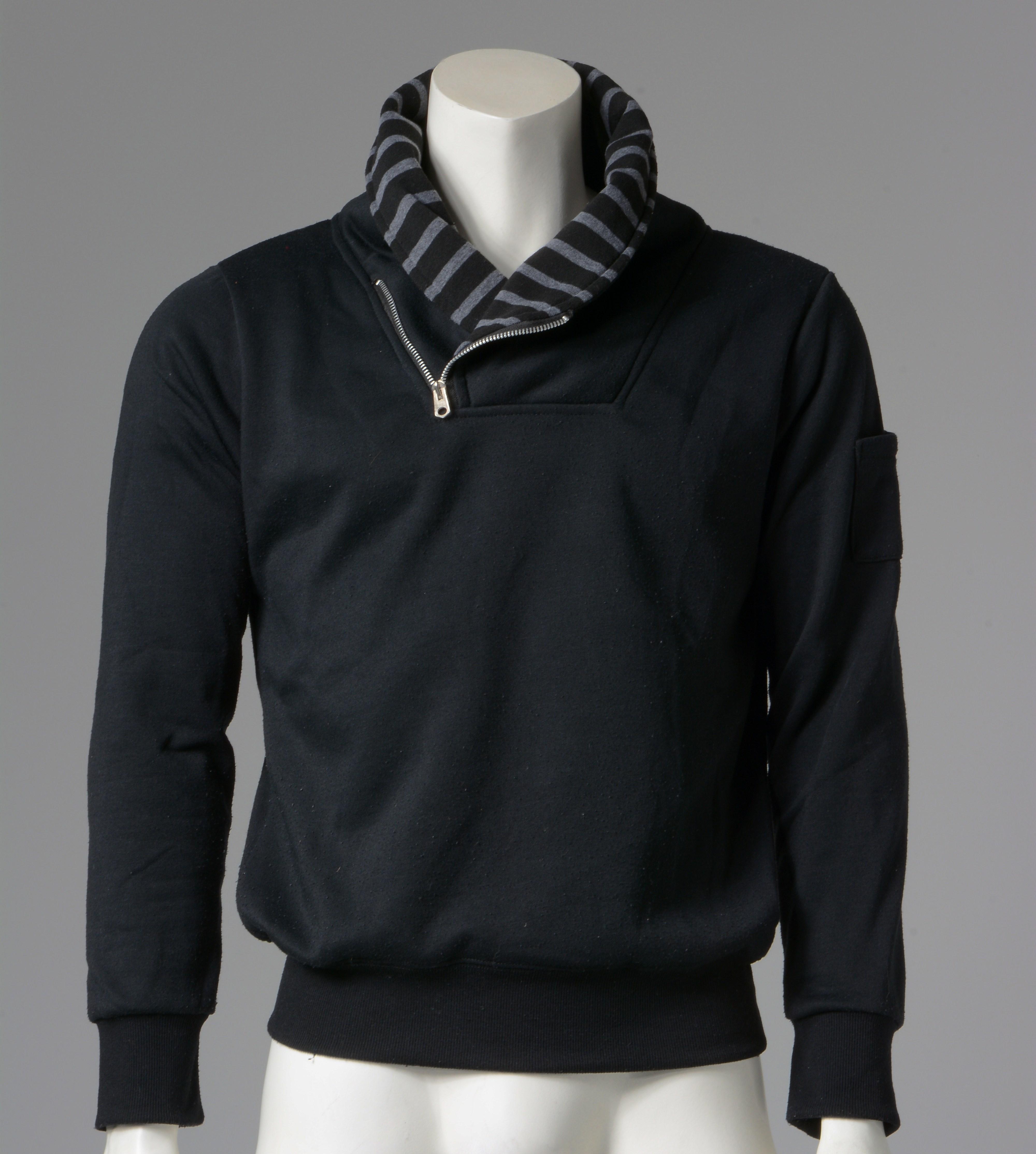Μπλούζα φούτερ γιακάς φερμουάρ