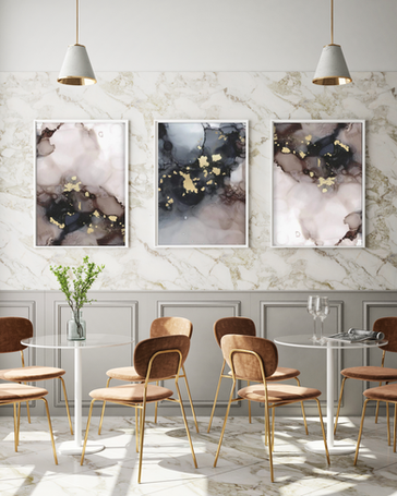Art Poster Champagne I & II