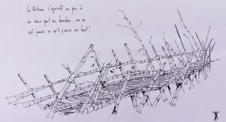 Le vieux pont en bambou