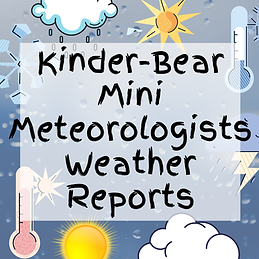 Kinder-Bear Mini Meteorologists Weather