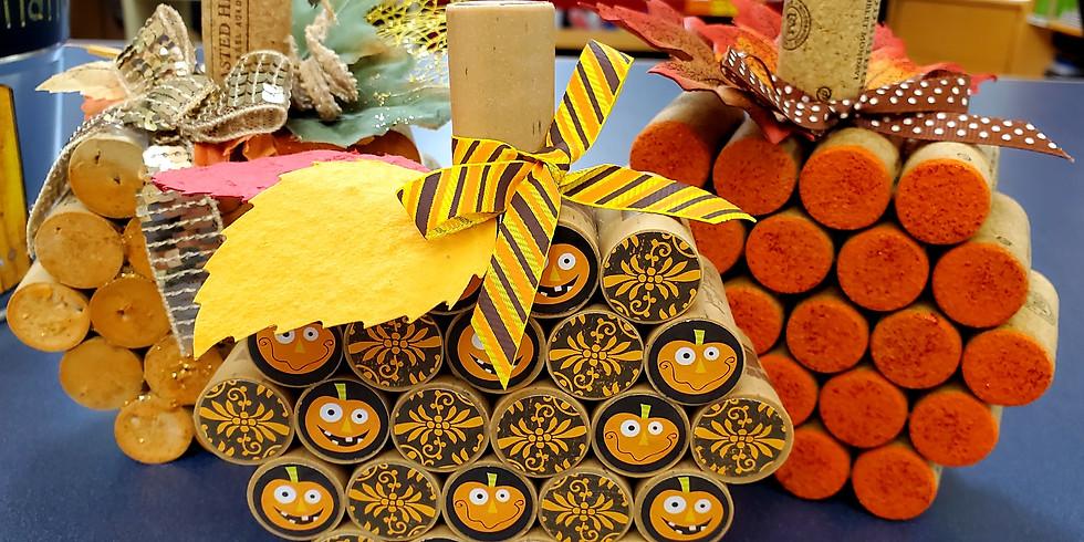 Adult Craft: Cork Pumpkins