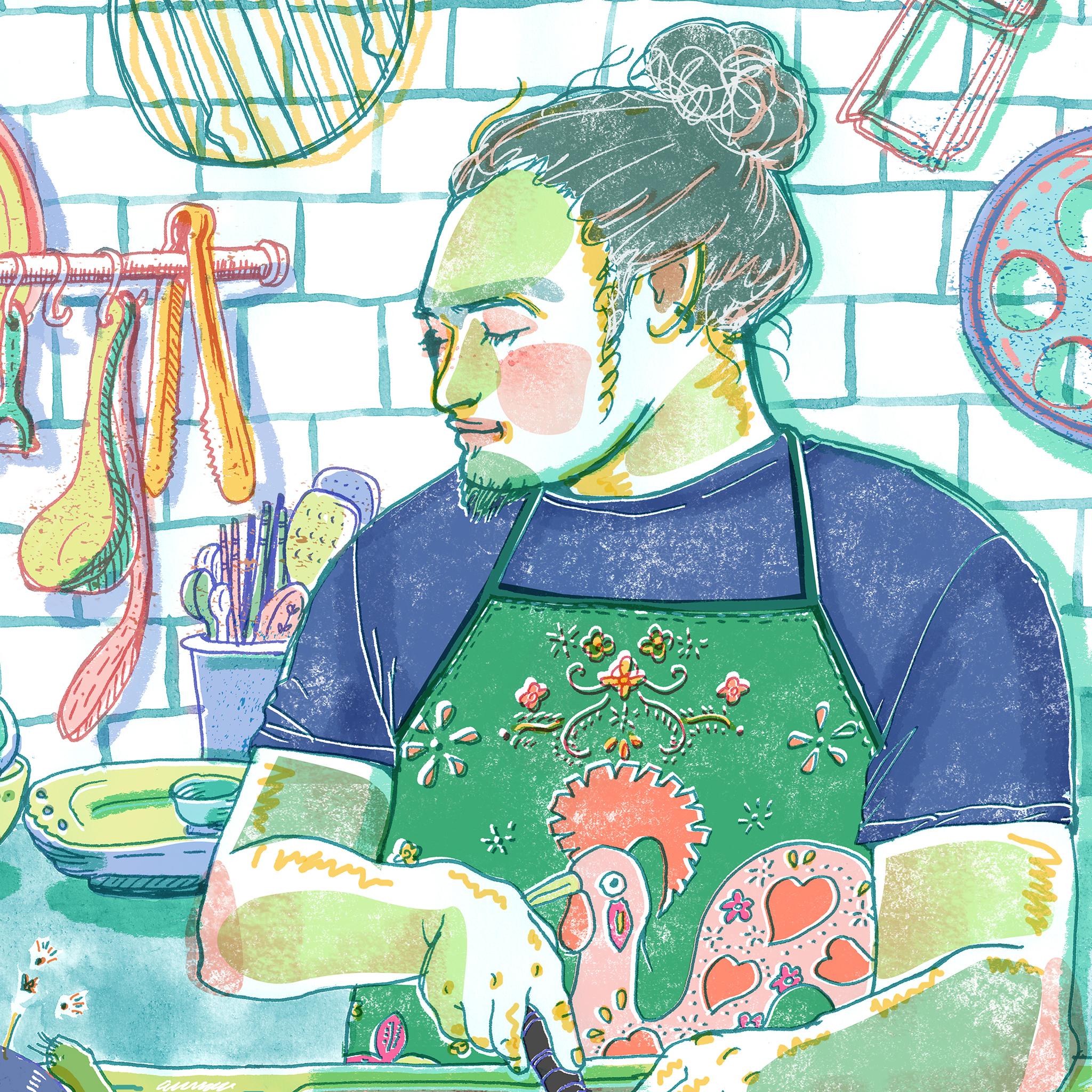 mimi in the kitchen