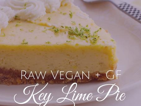 Delicious Raw Vegan Key Lime Pie Recipe ~ GF and Refined Sugar Free