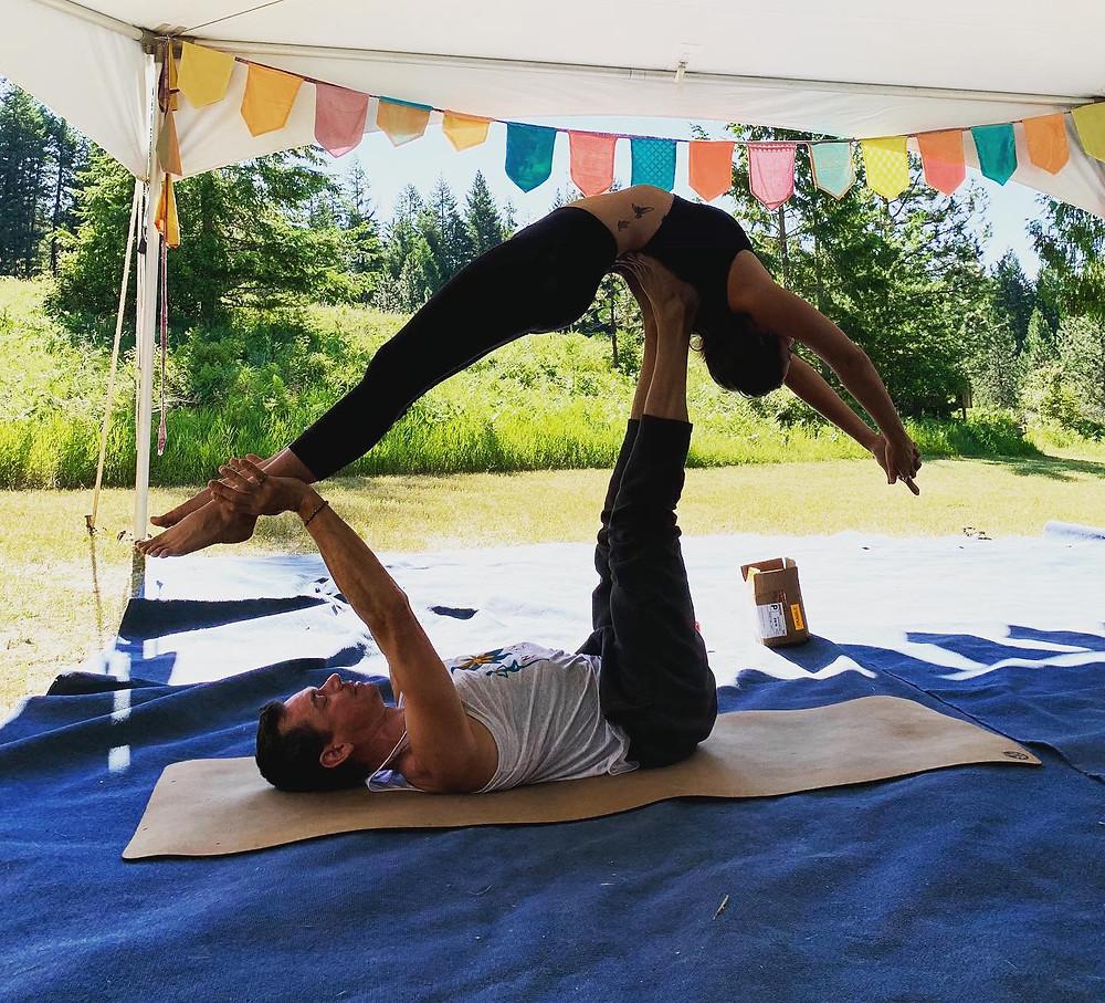 Partner Yoga fun!