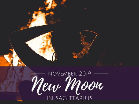 New Moon in Sagittarius November 2019 - Rest and Digest