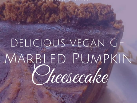 Delicious Marbled Pumpkin Cheesecake Recipe ~ Vegan, GF and Refined Sugar Free