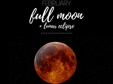 Leo Full Moon + Lunar Eclipse February 2017