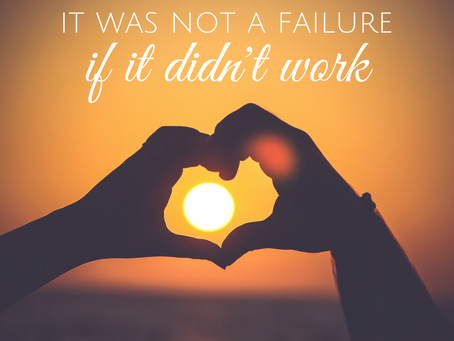 It is Not a Failure if it Didn't Last Forever