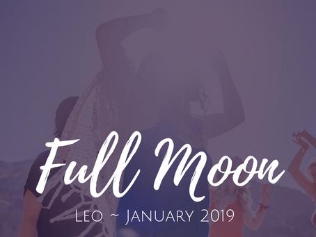 Full Moon in Leo January 2019 ~ SuperMoon Wisdom